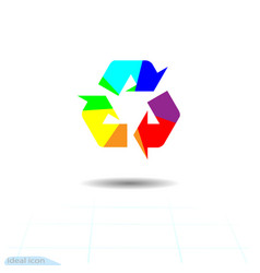 rainbow recycling recycled icon eco recycle vector image