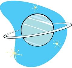 Retro Planet Neptune vector