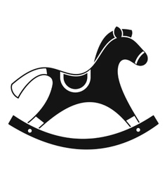 Rocking horse icon simple style vector
