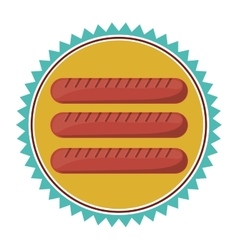 Sausage food icon vector