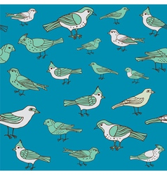 Seamless vintage background with birds vector