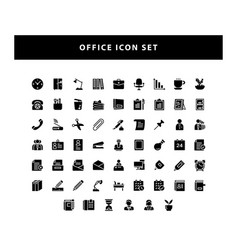 set office icon with glyph style design vector image