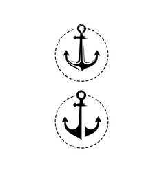 simple black marine anchor logo nautical design vector image