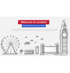 Site Header Design for tourism in London vector image