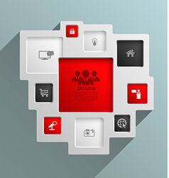 square for business concepts with icons vector image
