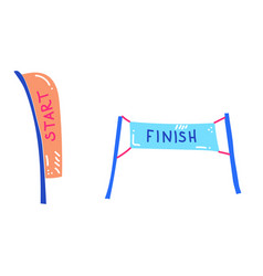 start and finish banner vector image