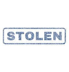 Stolen textile stamp vector