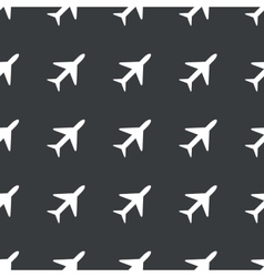 Straight black plane pattern vector