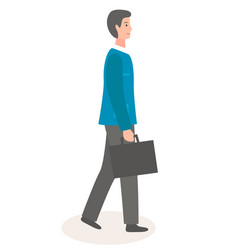 stylish businessperson wearing office clothing vector image