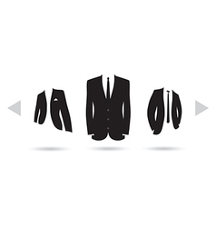 suit selection vector image