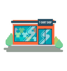 T-shirt store concept front shop for design vector