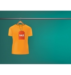 T-shirt with a price tag hanging on hanger vector image