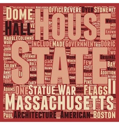 The massachsetts state house 1 text background vector