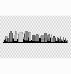 the silhouette of the city in a flat style modern vector image