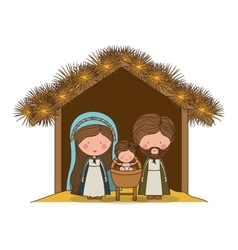 traditional manger scene vector image