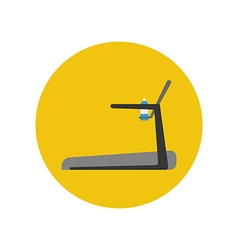 Treadmill Running track icon vector