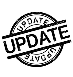 Update stamp rubber grunge vector