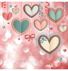 Valentines day vintage card vector