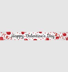 Valentines day web banner vector