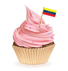 Venezuelan Cupcake vector image