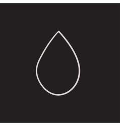 Water drop sketch icon vector image