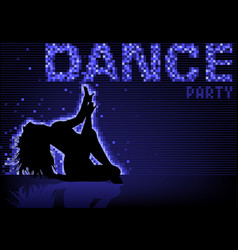 blue dance party background vector image