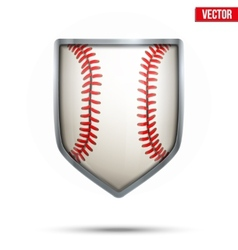 Bright shield in the baseball ball inside vector image vector image