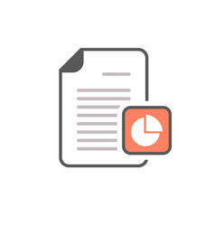 Business document file page pie chart report icon vector