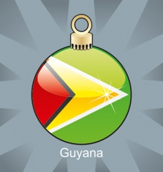 Guyana flag on bulb vector image vector image
