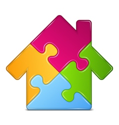 Puzzle House Icon vector image vector image