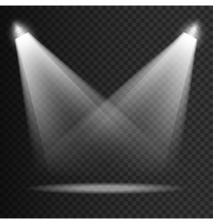 Scene transparent lights effects on a plaid dark vector image