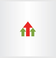 house arrows icon logo symbol element vector image