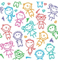 kid pattern vector image vector image