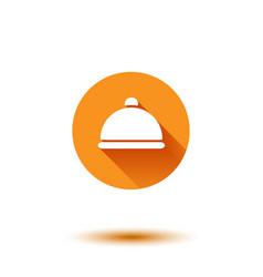 orange flat long shadow cloche vector image vector image