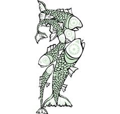 School of fish Vertical vector image vector image
