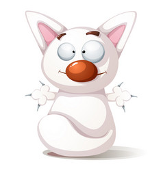 funny cute cat - vector image vector image