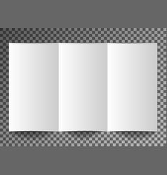 mockup booklet postcard flyer trifold or vector image