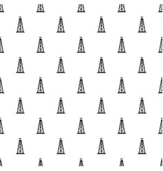 oil rig pattern vector image vector image