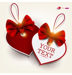 Valentines Heart Labels vector image vector image