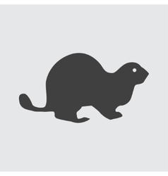 Beaver icon vector image