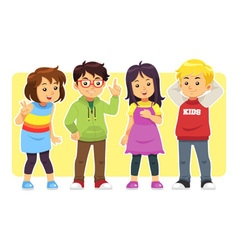 Casual Kids vector image vector image