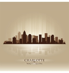 Charlotte North Carolina skyline city silhouette vector image vector image