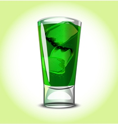 Green cocktail vector image