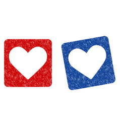 love heart grunge textured icon vector image vector image