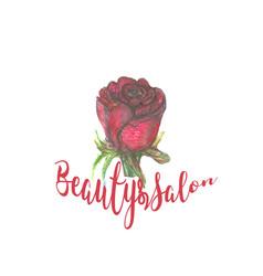 rose design for spa boutique beauty salon vector image vector image