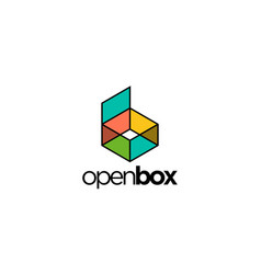 Abstract and colorful box for logo design vector
