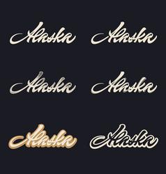 alaska brush lettering vector image
