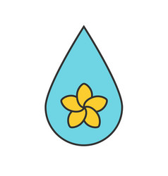 aromatherapy oil drop color icon vector image