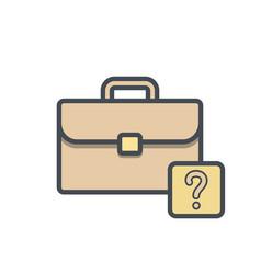 bag briefcase business help portfolio vector image