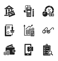 banking icon set simple style vector image